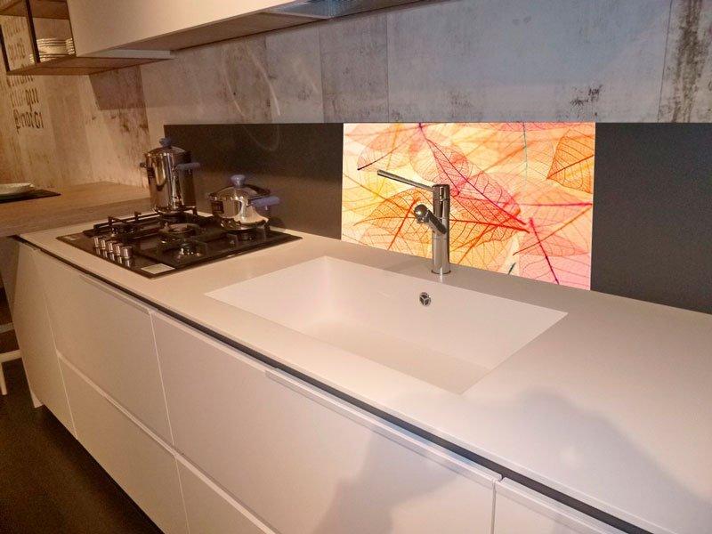 Paraschizzi In Vetro Decorato Per Cucina