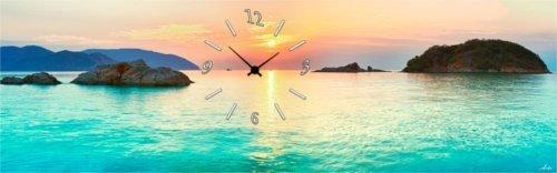 Orologio da parete in vetro