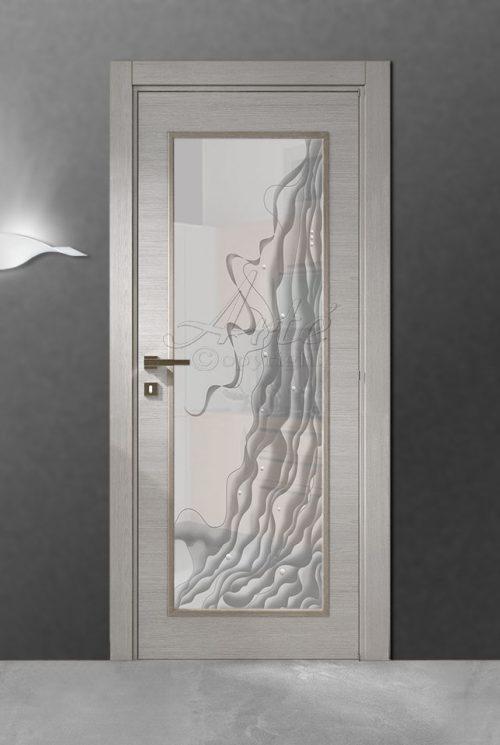 Vetri per porte in legno decoro con stampa digitale su - Vetro per porta interna ...