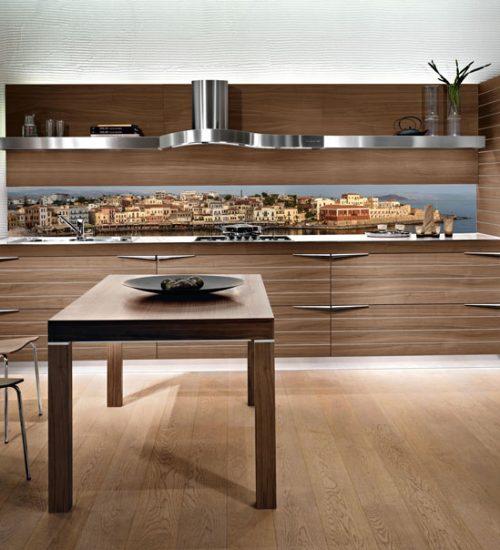 Paraschizzi cucina in vetro decorato le superfici igieniche e ultraresistenti - Cosa mettere al posto delle piastrelle in cucina ...