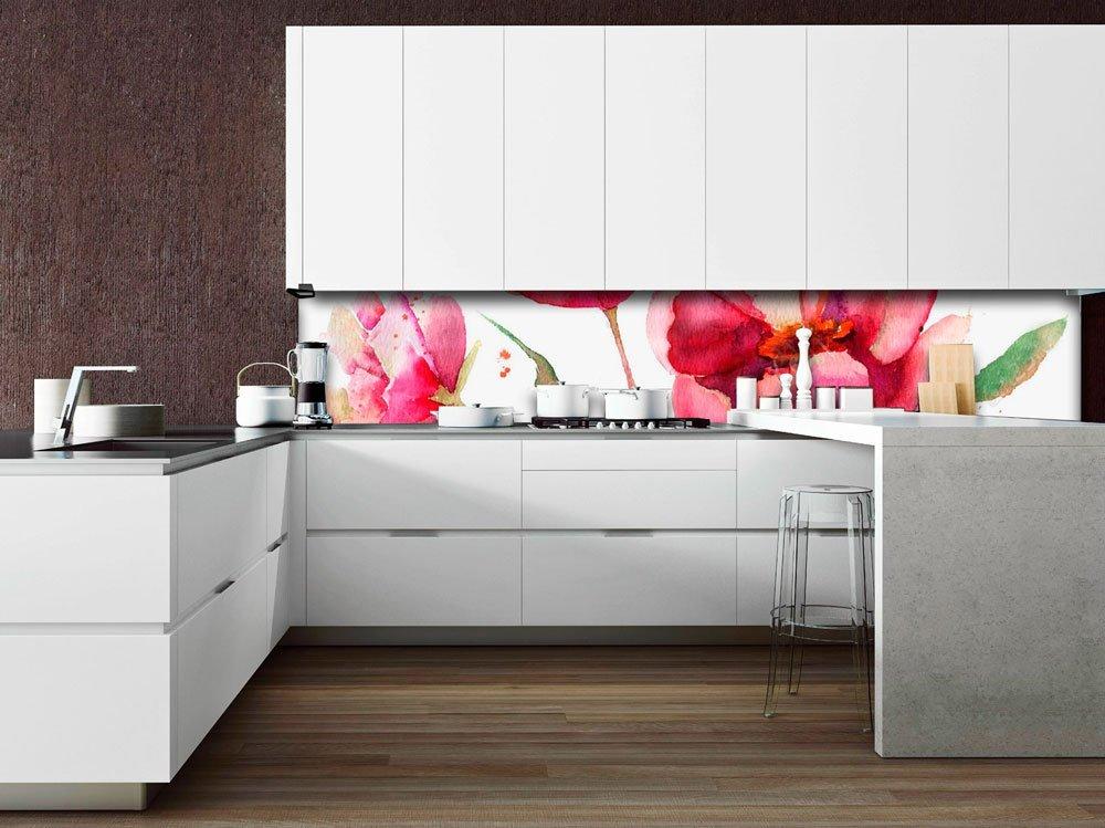 Paraschizzi cucina in vetro decorato le superfici igieniche e ultraresistenti - Paraschizzi cucina ...