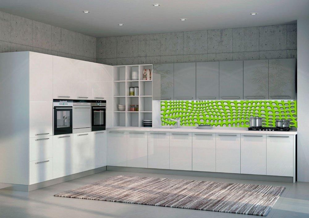 Paraschizzi cucina in vetro decorato le superfici - Schienale cucina in vetro temperato ...