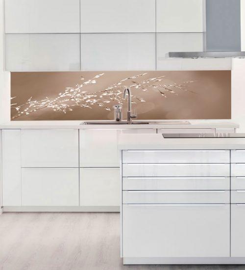 Paraschizzi cucina in vetro decorato. Le superfici igieniche e ...