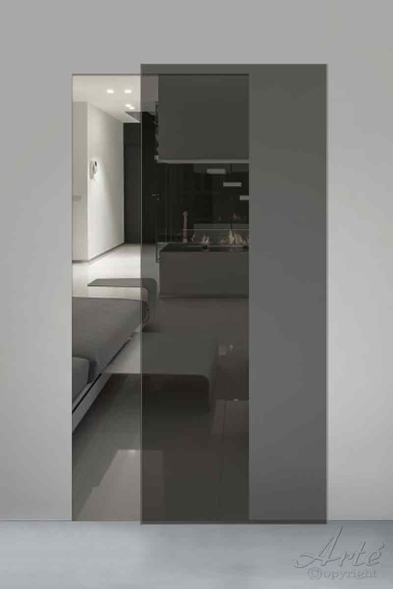 Porta Scorrevole In Vetro Fume Trasparente01 Arte Laboratorio Idee