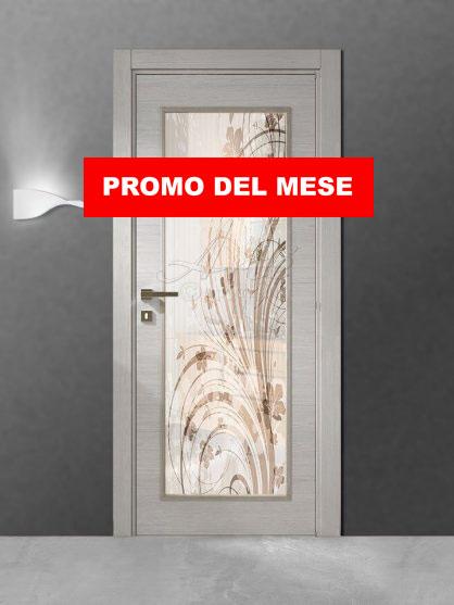 Vetri per porte in legno con decoro digitale