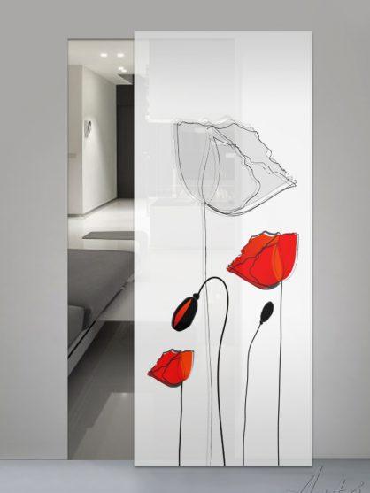 Porte scorrevoli in vetro con Stampa Digitale