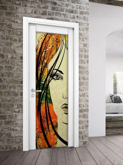 Porta in legno Style a battente con vetro