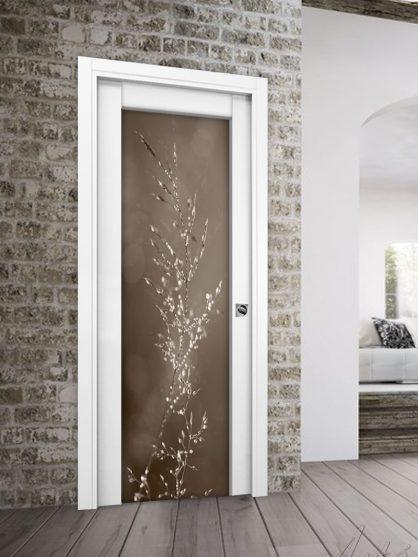 Porta in legno Style scorrevole con vetro