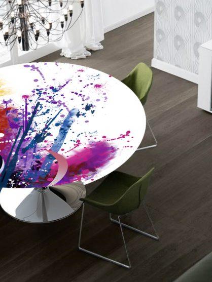 Tavolo design Moon con stampa digitale